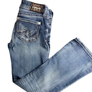 EXPRESS JEANS BOOTCUT LOWRISE SIZE 2s